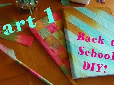 DIY Back to School ♥ Silk Ribbon Notebooks