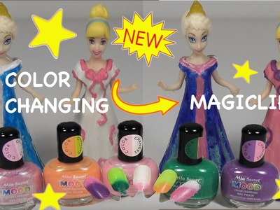 DIY Color Change Magiclip MOOD Dresses - Princess Cinderella Queen Elsa with Mood Nail Polish