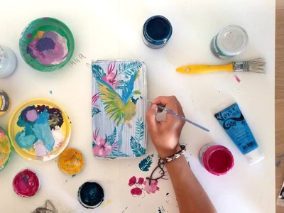 DIY DECOR  -Tropical Flowers-  speed painting
