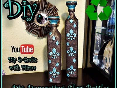 Diy Decorating Glass Bottles Diy & Crafts with Mirna