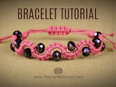 DIY Easy Wave Bracelet with Beads | Macrame School
