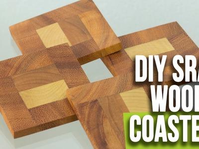 DIY Easy Wood Coasters. Scrap Wood Coasters | Woodworking Projects |  Interio Workshop