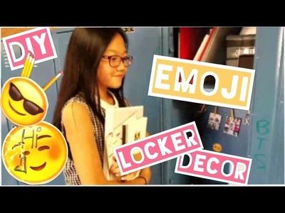 DIY Emoji Locker Decor! | Emoji Whiteboard, pencil, pouch, magnets