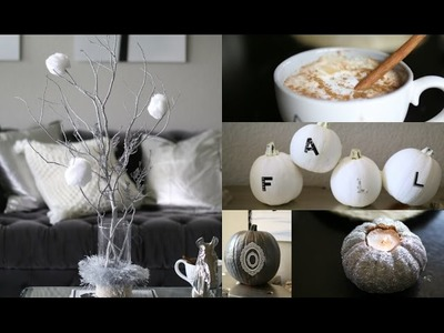DIY Fall Decor Rustic Glam & Coconut Pumpkin Spice Latte  #iHeartFall Ep 1 - MissLizHeart