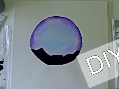 DIY Galaxy Horizon Watercolor Painting