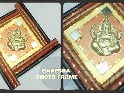DIY Ganesha Photo Frame || Newspaper-Best from Waste