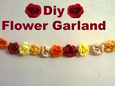 Diy-How to make a flower garland