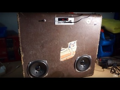 DIY - How To Make Bluetooth Suitcase Speaker Cheap Rough Easy