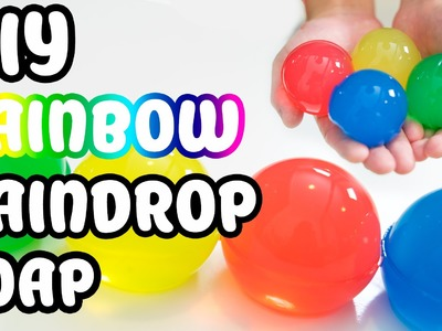 DIY How To Make Raindrop Colors Gummy SOAP