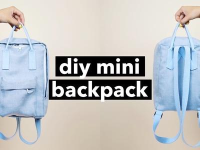 DIY Mini Backpack From Scratch! (Fjällräven Kånken style)