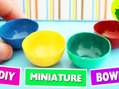 DIY | Miniature Food Bowls - Easy Doll crafts - simplekidscrafts