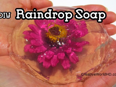 DIY Raindrop Soap with Real Flower.Water Bubble Soap How to Tutorial by Creative World