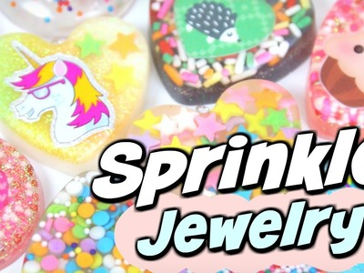 DIY RESIN For Beginners - JEWELRY with SPRINKLES!? - Sprinkle Pendant Charm How To
