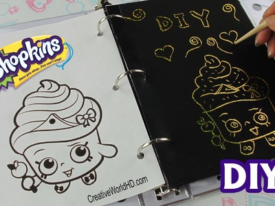 DIY: Sketch Surprise Scratch Art Notebook.Shopkins.MLP How to Tutorial
