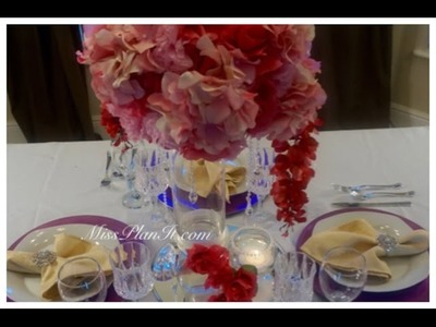 DIY: Tutorial Passion Pink Centerpiece for Under $40!