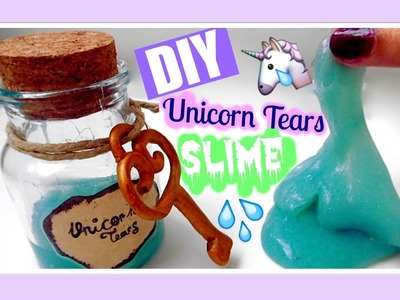 DIY Unicorn Tears Slime ⎥MiSweetWorld