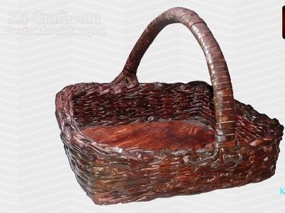 DIY: Weaving basket with recycled Newspaper - Handmade Basket for Diwali Pooja -Part #1