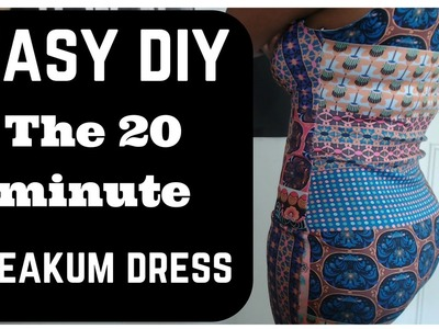 EASY DIY - How to Make a FITTED FREAKUM Dress in only 20 minutes! Tutorial