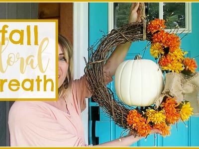Fall Floral Wreath DIY Tutorial