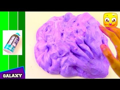 FLUFFY SLIME Tutorial With SHAVING CREAM DIY How To Make Galaxy Slime Without Borax or Liquid Starch