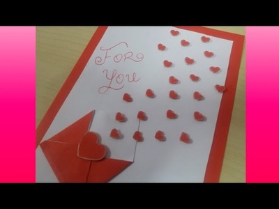 Heart greeting card | how to make | crafts and more