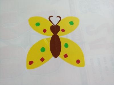 How to collage butterflies | Cắt dán con Bướm
