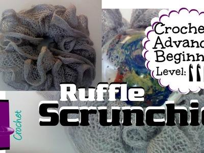 How to crochet Ruffle yarn scrunchie