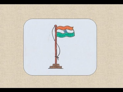 How to draw Indian Flag for kids