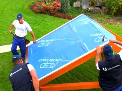 How to install waterproof membrane - wooden battens on pitched roofs