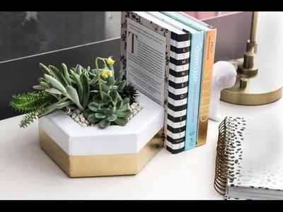 How to make a DIY hexagon planter