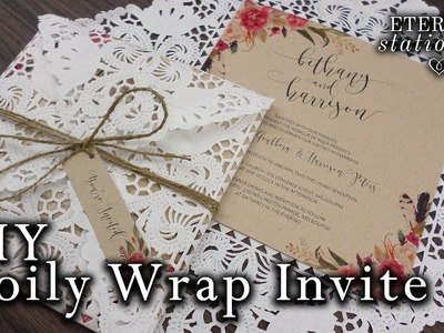 How to make a doily wrap.doily envelope invitation | DIY invitations
