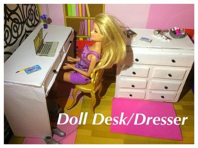 How To Make A Doll Desk.Dresser