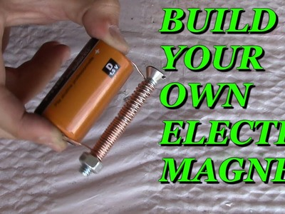 How to Make a Magnet at Home Easy - DIY Strong Electric Magnet