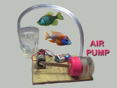 How to Make a Mini Air Pump for Home Aquarium || DIY at home very easy