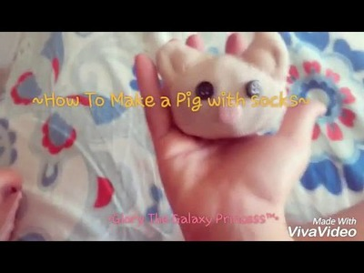 How to make a pig with socks