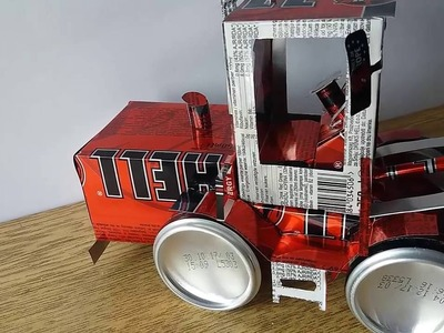 How to make bulldozer 854K from cans (Powered by Hell Energy)