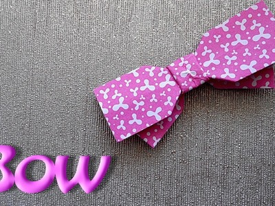 How to make Origami Bow-Tie is easy!