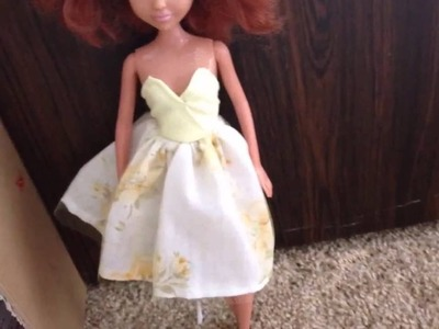 How To Make Two Cute Summer Dresses in 10 Minutes. Doll Craft