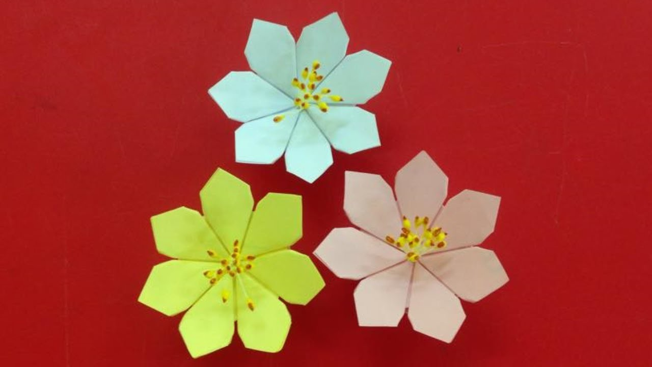 Make A Beautiful Paper Flower Easy Origami Flowers For Beginners