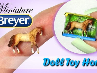 Miniature Breyer Horse Tutorial. DIY Doll Toy Horse