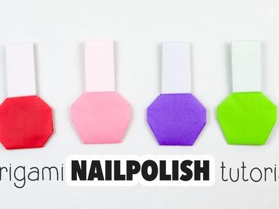 Origami Nail Polish Bottle Tutorial ♥︎ DIY ♥︎ Paper Kawaii