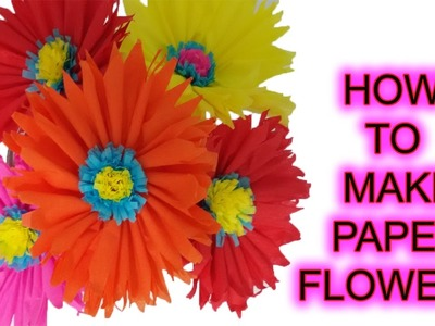 Perennial flowers  how to make paper flowers step by step