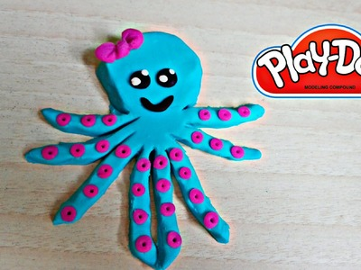 Play Doh Octopus How to make | Como hacer pulpo de Plastilina Play Doh