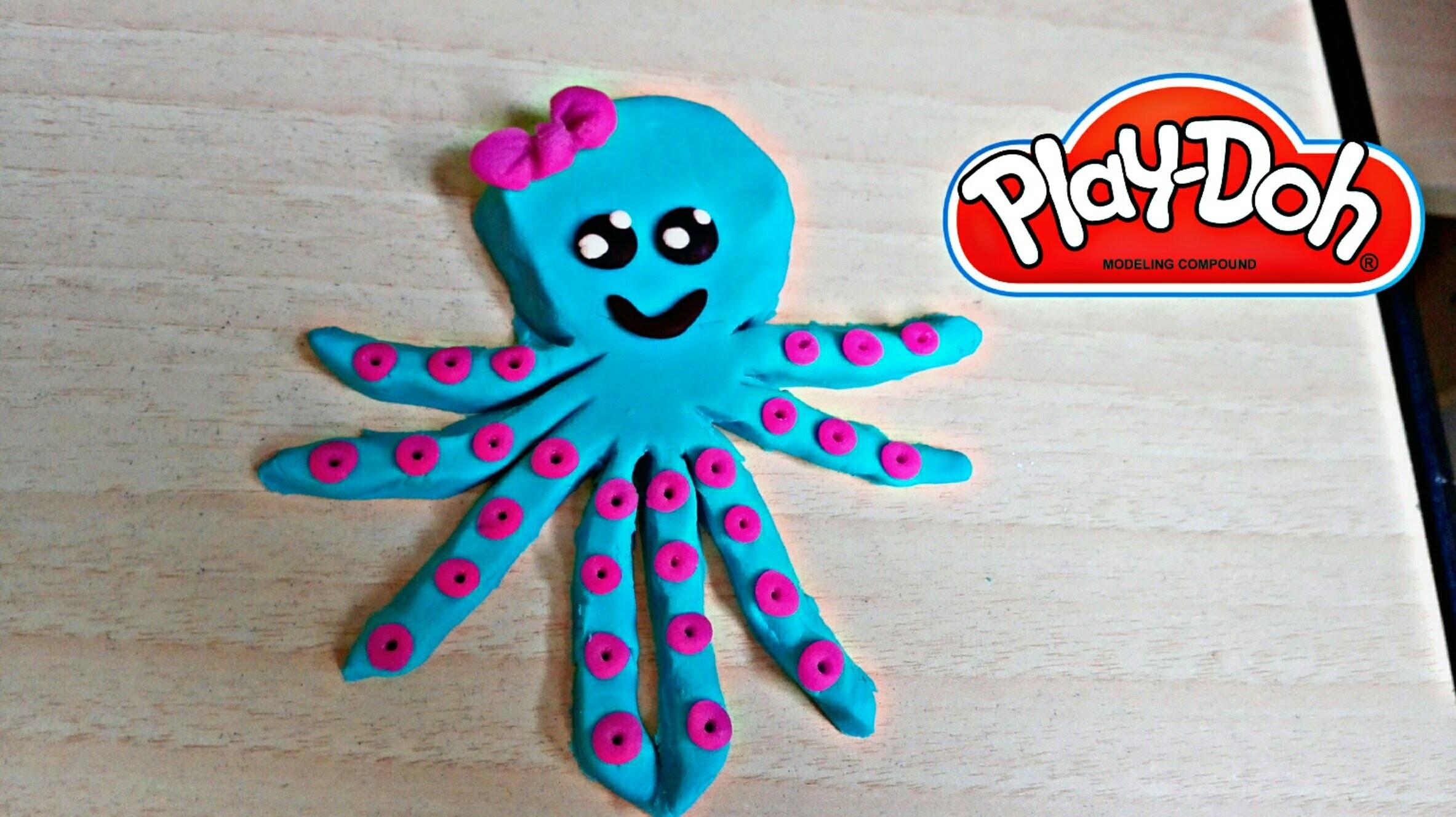 Play Doh Octopus How to make   Como hacer pulpo de Plastilina Play Doh