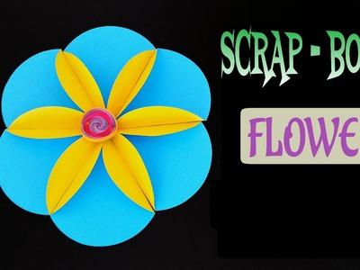 "Tutorial to make ""Flower for Scrap Book"" - DIY | Handmade"