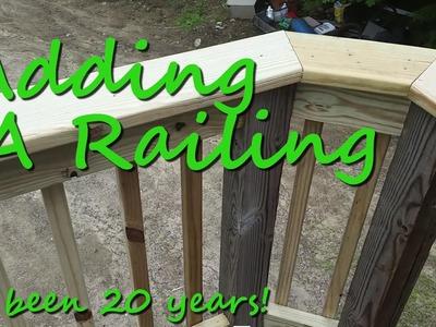 Adding A Railing  - DIY Tutorial