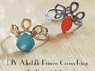 DIY Adjustable Tiara Knuckle Ring by Denise Mathew