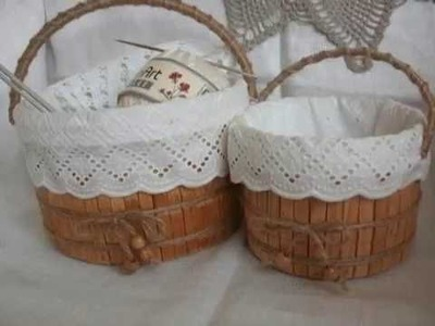 DIY Baskets with clothespins