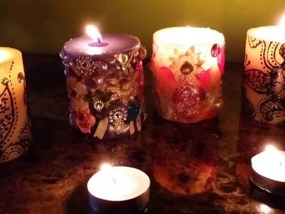 #DIY candle decoration