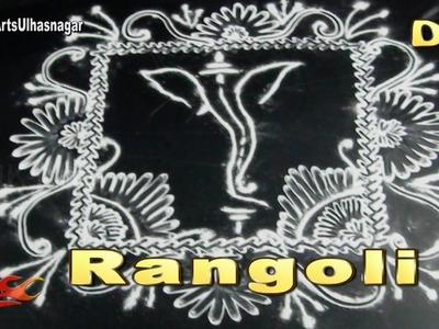 DIY Easy Ganpati Rangoli | How to make | JK Arts 1063